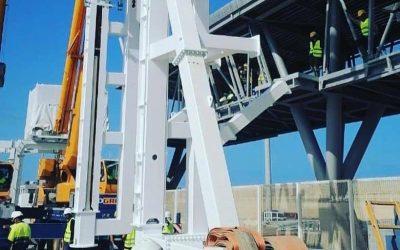 El suministro, instalación y puesta en marcha de dos pasarelas telescópicas para la nueva terminal de cruceros en el puerto de casablanca.